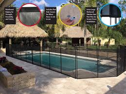 Amazon Com Waterwarden Wwf200 4 X 12 Black Removeable Outdoor Child Safety Inground Easy Diy Installation With Hardware 4 Foot Pool Fence Outdoor Decorative Fences Garden Outdoor