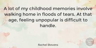 rachel stevens a lot of my childhood memories involve walking