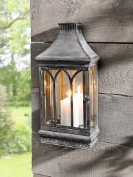 wall mount mirror candle lantern clear