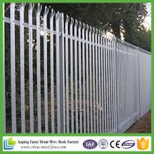 China Hot Dipped Galvanized Palisade Fence Steel Fence China Metal Fence Palisade Fencing