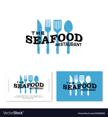 Seafood restaurant logo utensils ...