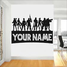 Boys Personalized Name Wall Sticker For Gaming Room Ps4 Gamer Wall Decals For Nursery Kids Room Art Pose Decor Vinyl Mural Y040 Wall Stickers Aliexpress