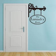 Laundry Room Hanging Sign Door Decal Laundry Room Wall Sticker Decal Vinyl Home Decor 2xy01 Wall Stickers Aliexpress