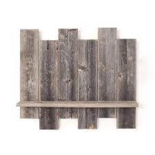 Rustic Farmhouse Staggered Wall Shelf Barnwood Usa