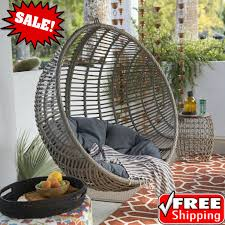 resin wicker hanging egg chair outdoor