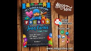 Invitacion De Pocoyo Listo Para Imprimir Mega Idea