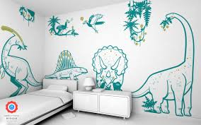 Dinosaur Wall Decals For Kid S Playroom Or Bedroom Dino Wall Stickers