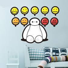 Big Hero 6 Baymax Emotions Dedroom Living Room Wall Decals Window Stickers Living Room Wall Childrens Room Decor Big Hero 6 Baymax