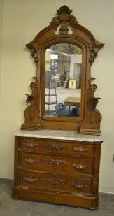 victorian walnut dresser with marble
