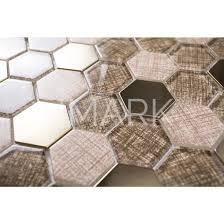 ink jet print glass mosaic mix metal