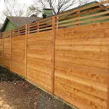 Wooden Fence Design Ideas Horizontal Wood Fences A Better Fence Company Horizontal Fences Woodsinfo