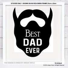 Best Dad Ever Vinyl Sticker For Diy Box Frame Father S Day Gift Make Your Own Ebay Best Dad Box Frames Diy Box