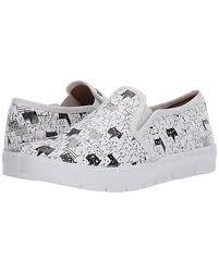 On Sale Now. 10% Off Nurse Mates Adela (White/Black Cats) Women's Slip on  Shoes
