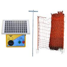 Thunderbird Poultry Netting Electric Fence Energiser Kit Solarkit1 The Grit