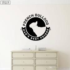 Wall Decal Cute French Bulldog Vinyl Wall Stickers Livingroom Decoration Puppy Pet Shop Window Art Logo Decor Salon Wall Vinyl Decals Wall Vinyl Sticker From Joystickers 10 95 Dhgate Com