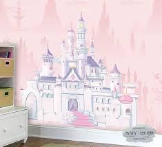 Disney Castle Wall Mural Princess Castle Mural Girl S Room Wallpaper Nursery And Kid Room Wall De Kids Room Wallpaper Girls Room Wallpaper Girls Wall Decor
