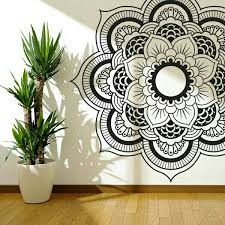 Pin By Ashley Lauren On My Room Mandala Wall Art Wall Drawing Mandala Design