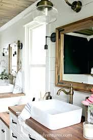 wooden framed bathroom mirror xylete co