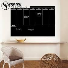 This Week Planner Erasable Blackboard Chalkboard Weekly Calendar Memo Vinyl Wall Decal Stickers 56x82cm Wall Decals Stickers Decal Stickerweek Planner Aliexpress