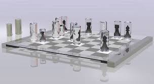 chess set made in extruded aluminum
