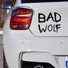 2020 Wholesale Vinyl Decals Car Stickers Glass Stickers Scratches Stickers Wall Die Cut Bumper Accessories Jdm Bad Wolf Text Sticker From Zhangmin771215 25 13 Dhgate Com