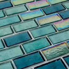 iridescent recycled glass tile