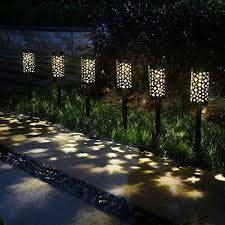 6 pack solar light outdoor garden patio