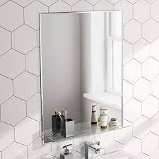 bathroom mirrors with shelf co uk