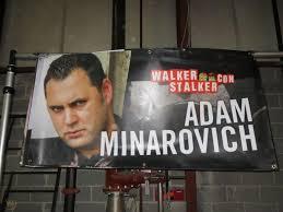Used Actor Banner 2ft x 4ft Walker Stalker Con- Adam Minarovich ...