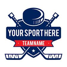 Hockey Sticks And Puck Sticker Custom Sports Decal