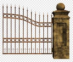 Fence Gate Cemetery Fence Outdoor Structure Fence Png Pngegg