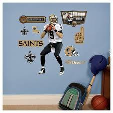 Nfl New Orleans Saints Drew Brees Fathead Wall Decal Set Target