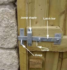 wood fence gates gate latch