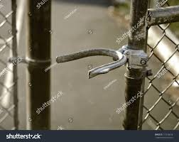 Chain Link Fence Gate Lock Stock Photo Edit Now 113218618