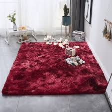 Hot Discount B9df Red Shaggy Tie Dye Carpet Printed Alfombra Plush Floor Fluffy Mats Kids Room Faux Fur Area Rug Living Room Mats Silky Rugs Cicig Co