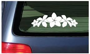Amazon Com Plumeria Band Flower Lei Sticker White Decal Hawaii Automotive