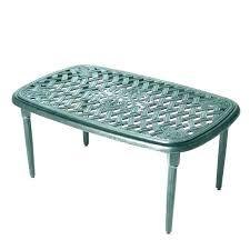 small white plastic garden table