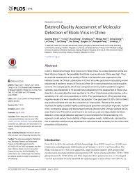 PDF) External Quality Assessment of Molecular Detection of Ebola ...