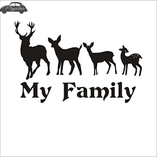 Hunt Deer Family Decal Hunting Club Sticker Hollow Sticker Hunter Car Window Vinyl Decal Funny Poster Motorcycle Car Stickers Aliexpress