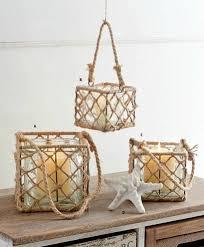 square rope basket glass lantern large