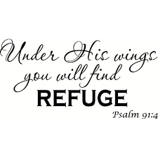 Psalm 91 4 V2 Under His Wings You Will Find Refuge Bible Verse Inspired Wall Decal Our Inspirational Christian Scripture Wall Arts Are Made In The Usa Walmart Com Walmart Com