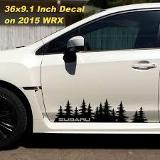 Subaru Decal Custom Vinyl Door Graphic Forest Silhouette Tree Sticker Wrx Forester Impreza Brz Legacy Outback Tribeca Crosstrek Subaru Forest Silhouette Wrx