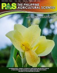 The Philippine Agricultural Scientist Formerly The Philippine Agriculturist