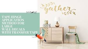 How To Apply A Large Vinyl Wall Decal Youtube