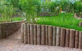log retaining wall design found on