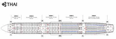 thai airways airlines aircraft seatmaps