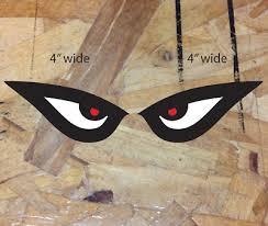 Eyes Red Eye Tiger Shark Vinyl Decal Sticker Auto Stickers Reverse Facing Set 4 Ebay