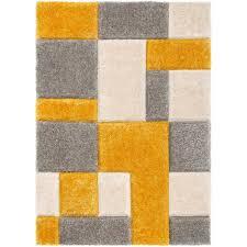 san francisco yellow gray area rug