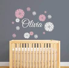 Personalized Name Wall Decal With Dahlia Flowers Girls Name Wall Sticker Kids Bedroom Decoration Vinyl Decor Murals J82 Name Wall Decals Wall Decalskids Bedroom Decor Aliexpress