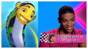Lineysha looks like the fish from Shark Tale : rupaulsdragrace